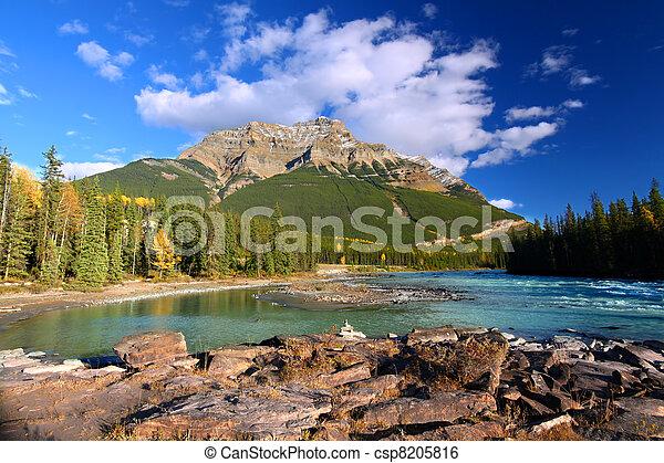 Río Athabasca y monte Kerkeslin - csp8205816