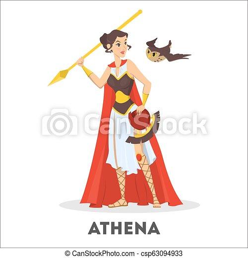 Athena Greek Goddess From Ancient Mythology Female Character