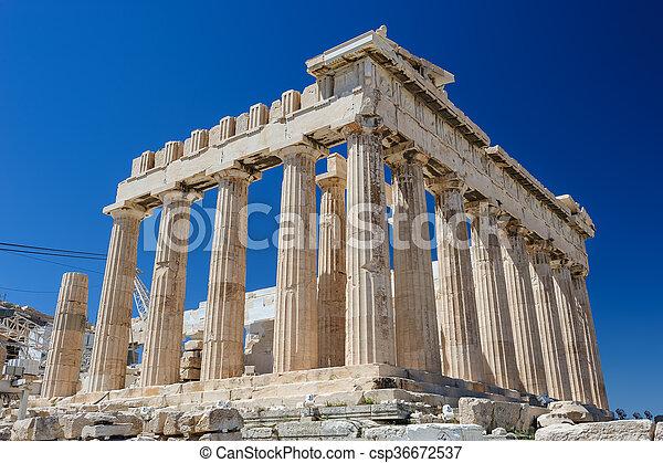 Athena's Parthenon at sky background - csp36672537
