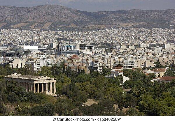 Athens cityscape - csp84025891