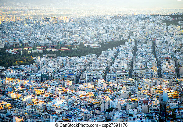 Athens cityscape view - csp27591176
