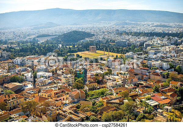 Athens cityscape view - csp27584261