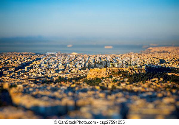 Athens cityscape view - csp27591255