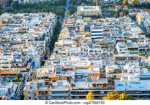 Athens cityscape view - csp27592153