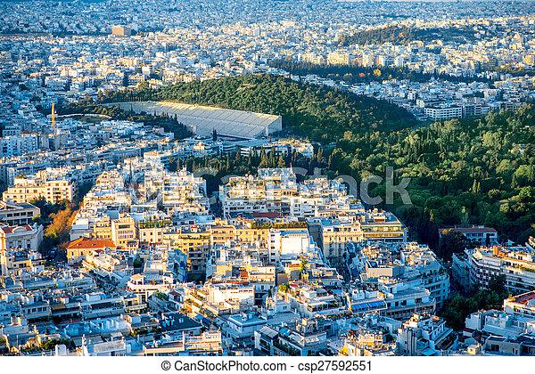 Athens cityscape view - csp27592551