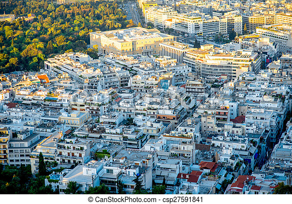 Athens cityscape view - csp27591841