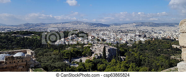 Athens cityscape view - csp63865824