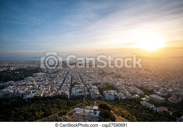 Athens cityscape view - csp27590691