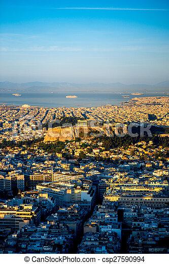 Athens cityscape view - csp27590994