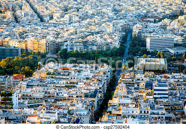 Athens cityscape view - csp27592404