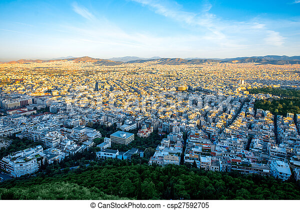 Athens cityscape view - csp27592705