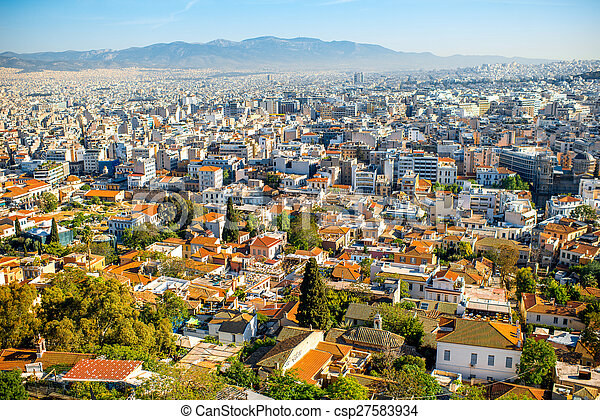 Athens cityscape view - csp27583934