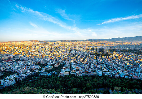 Athens cityscape view - csp27592830