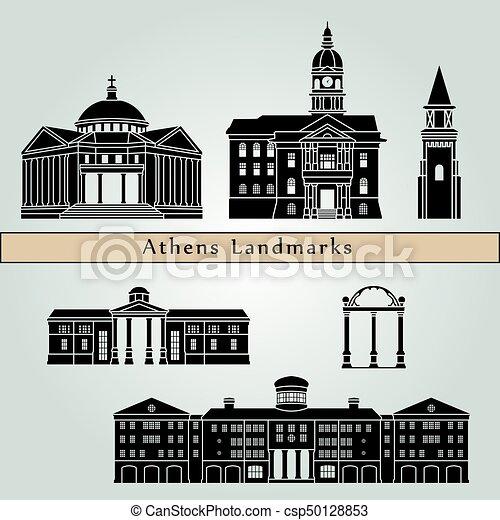 Athens GA landmarks - csp50128853