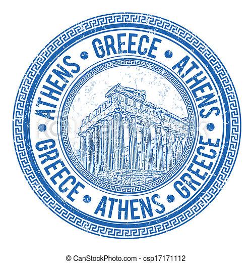 Athens, Greece stamp - csp17171112