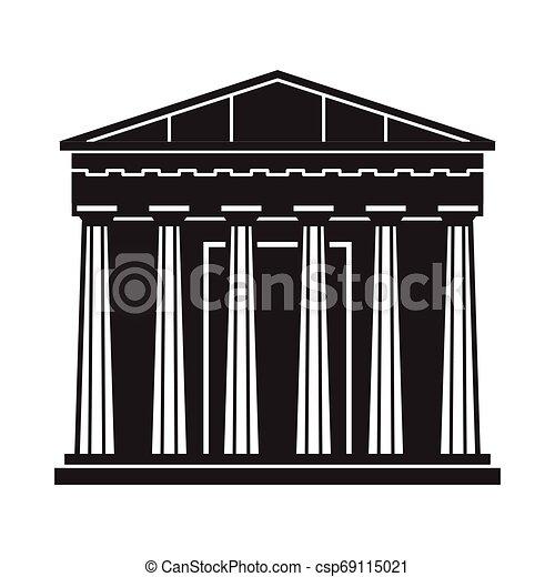 Athens Pantheon Icon - csp69115021