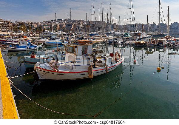 Athens. Port Piraeus. - csp64817664