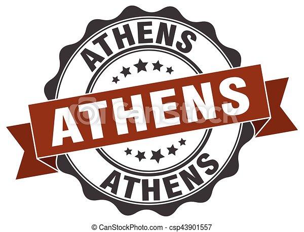 Athens round ribbon seal - csp43901557