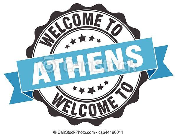 Athens round ribbon seal - csp44190011