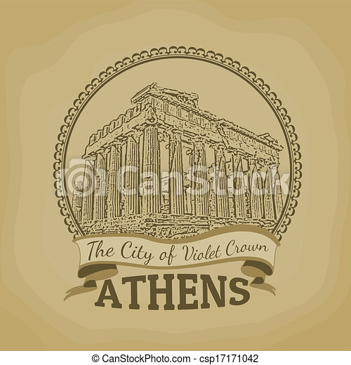 Athens ( The City of Violet Crown ) poster - csp17171042