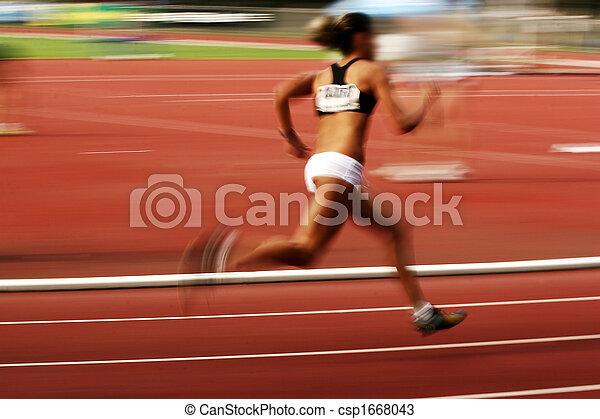 athlète, courant - csp1668043