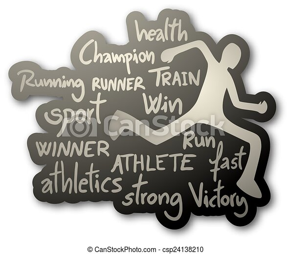 athlète, icône - csp24138210