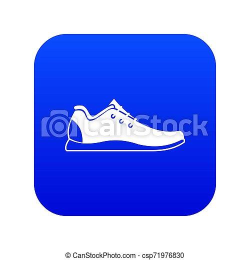 athlétique, bleu, icône, chaussure, numérique - csp71976830