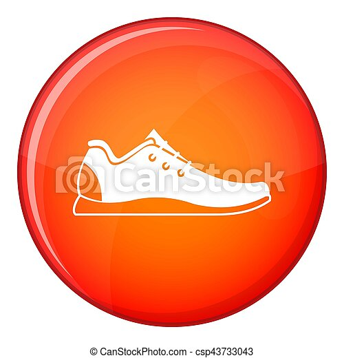 athlétique, style, icône, chaussure, plat - csp43733043