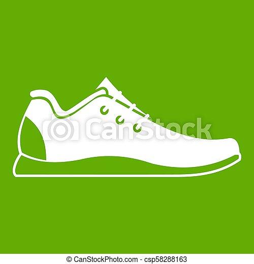 athlétique, vert, chaussure, icône - csp58288163