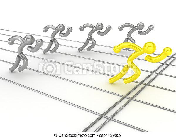 athlétisme, concurrence - csp4139859