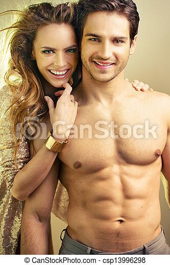Athlete man with his beloved girlfriend - csp13996298
