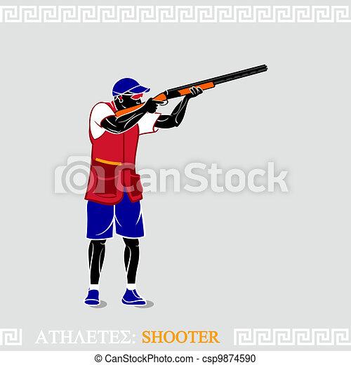 Athlete Shooter - csp9874590