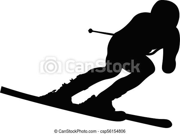 athlete skier in alpine skiing - csp56154806