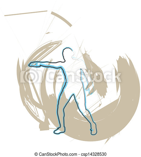 Athlete throwing the discus - csp14328530