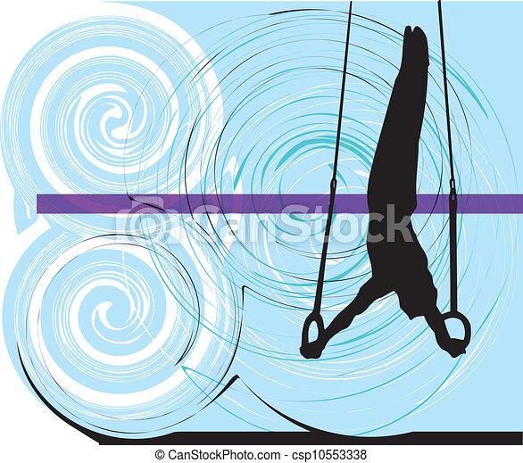 athlete., vecteur, illustration - csp10553338
