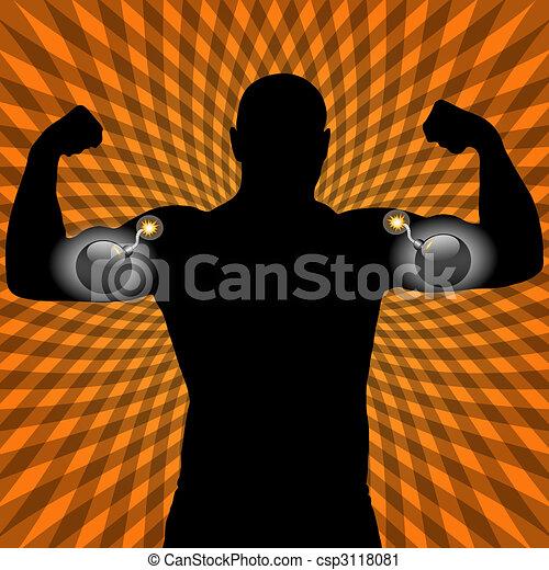 athleten, muskel, sprengstoff - csp3118081