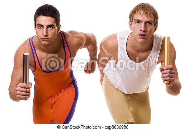 Athletes Rennrelais - csp8636986