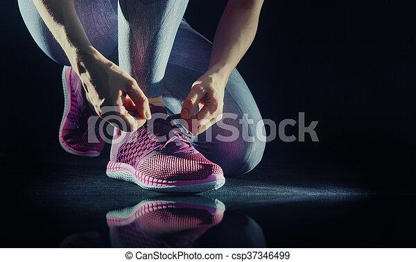 athletes foot close-up. - csp37346499