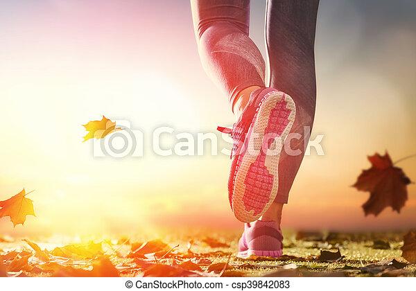 athlete's foots close-up - csp39842083