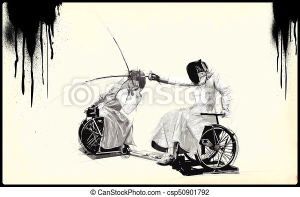 Athletes with physical disabilities - FENCING - csp50901792