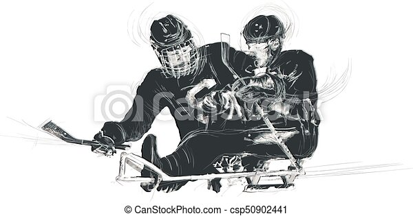 Athletes with physical disabilities - ICE HOCKEY - csp50902441