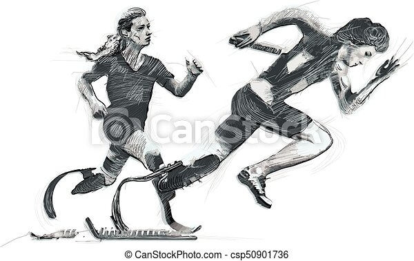 Athletes with physical disabilities - SPRINT, RUNNING - csp50901736