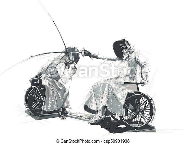 Athletes with physical disabilities - FENCING - csp50901938