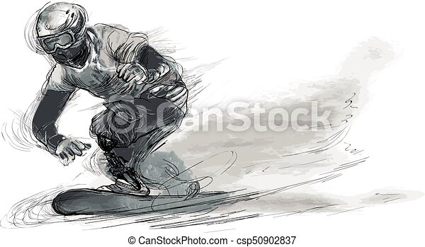 Athletes with physical disabilities - SNOWBOARD - csp50902837