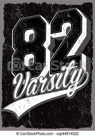 Athletic Dept. New york; Varsity Sport vector print and varsity. For t-shirt or other uses in vector.T shirt graphic - csp44814522