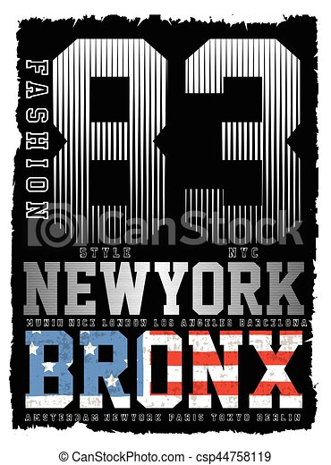 Athletic Dept. New york  Varsity Sport vector print and varsity. For t-shirt or other uses in vector.T shirt graphic - csp44758119