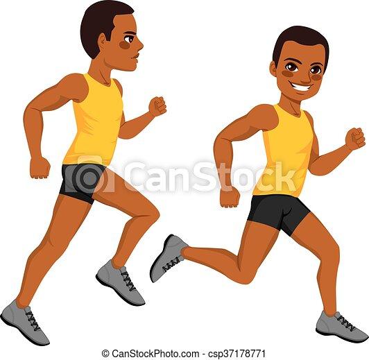 Athletic Man Runner - csp37178771