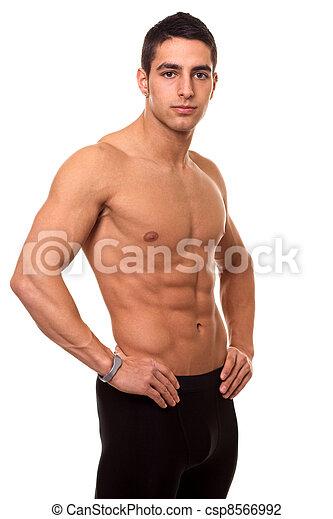 Athletic Man Shirtless - csp8566992