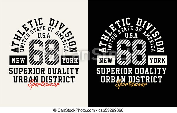 da7ad50df Athletic sport nyc typography design for t-shirt graphic, vector ...