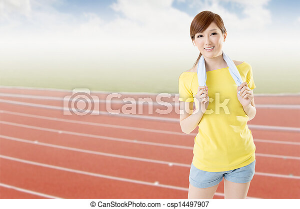 athletic woman - csp14497907